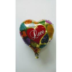 """Globo de corazón """"love"""" 45 cm"""