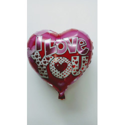 "Globo de foil corazones ""I love you"" 45 cm"