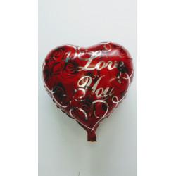 """Globo foil """"I love you"""" 45 cm"""