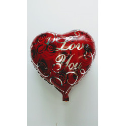"Globo foil ""I love you"" 45 cm"