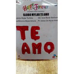 "Globos foil "" TE AMO"""