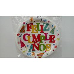Platos feliz cumpleaños