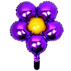 Globo forma de margarita 45cm violeta