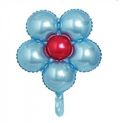Globo forma de margarita 45cm azul claro
