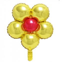 Globo forma margarita 45cm amarilla