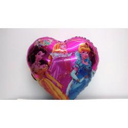 Globo corazón princesas