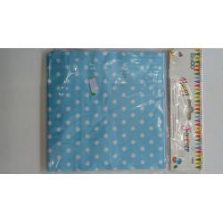 Servilletas azules con puntos blancos