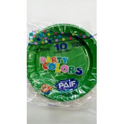 Plato plástico verde