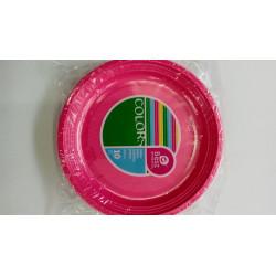 Platos plásticos rosas