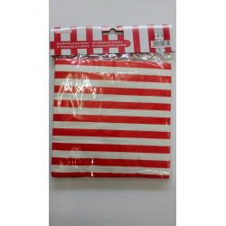 Servilletas rayas rojo/blanco