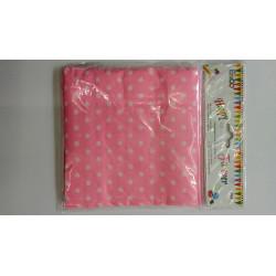 Servilletas rosas con puntos blancos