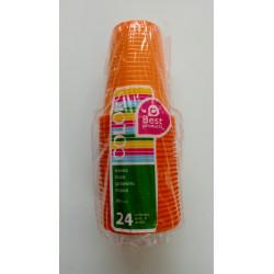 Vasos plásticos naranjas