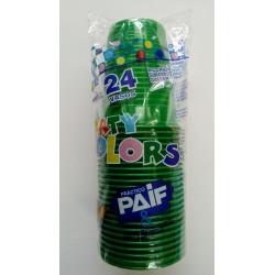 Vasos plásticos verdes