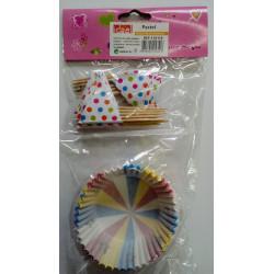 Molde Cupcakes con banderines