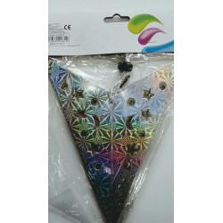 Estrella de cartón plateada. 45 cm.
