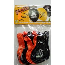 Globos Halloween naranja/negro