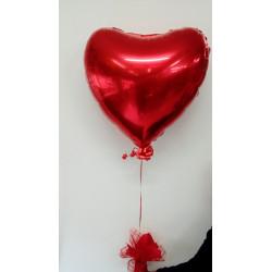 Globo corazón con helio