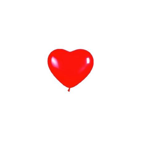 Globo Corazón rojo (50 uds.) 30 cm