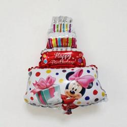 Globo foil tarta Happy Birthday 45x35cm