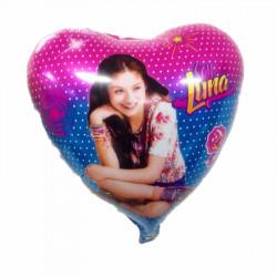 """Globo foil en forma de corazón """"Soy Luna"""""""