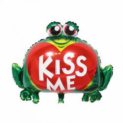 "Globo foil ""Rana kiss me"""