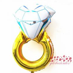 Globo diseño anillo grande 80x50 cm