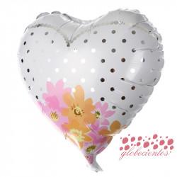 Globo diseño ramo de flores 45 cm