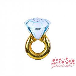 Globo diseño anillo 37x25 cm