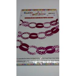Guirnalda de cadena de papel lila