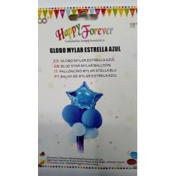 Globo mylar estrella azul