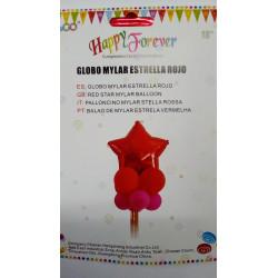 Globo mylar estrella rosa