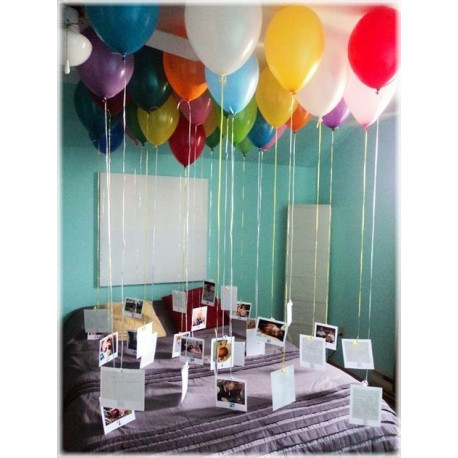 Decoracion con globos en techo globecientos for Decoracion draibol techos
