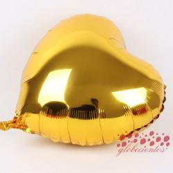 Globo corazón dorado 45 cm