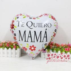 "Globo corazón ""Te Quiero Mamá!"" 45 cm"