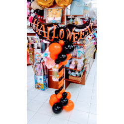 Columna halloween con murciélagos B
