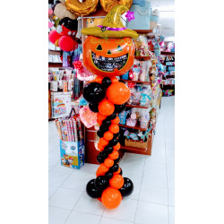 Columna halloween con calabaza