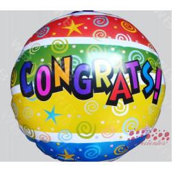 """Globo """"Congrats!"""" 45 cm"""