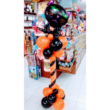 Columna halloween con gato negro B
