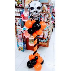 Columna halloween con esqueleto B