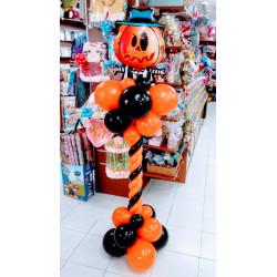 Columna halloween con esqueleto calabaza B