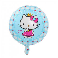 "Globo redondo azul ""HELLO KITTY"", 45 cm"