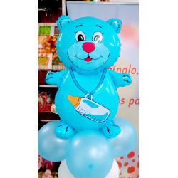 Centro oso biberón azul
