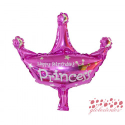 "Globo ""Happy Birthday Princess"" corona, 30x30 cm"