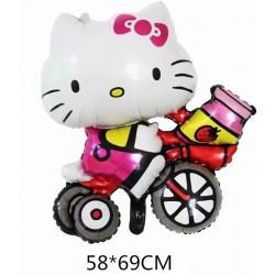 HELLO KITTY en bici 58x69 cm