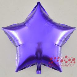 Globo estrella lila 45 cm