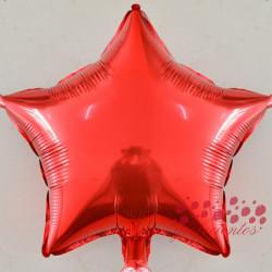 Globo estrella rojo 45 cm