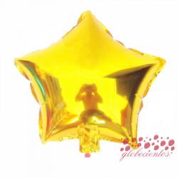 Globo estrella dorado 45 cm