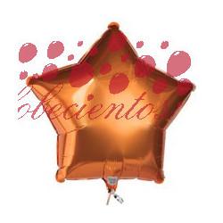 Globo estrella naranja 45 cm