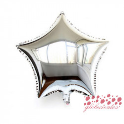 Globo estrella plata 45 cm