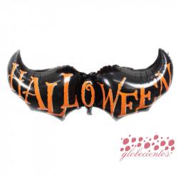 """Globo """"Halloween"""" murciélago, 125x50 cm"""
